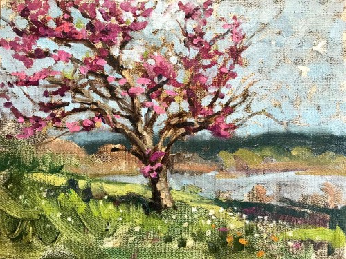 06-red bud plein air_2020