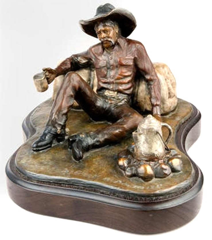 """I shoulda been a doctor"" bronze sculpture by Jack Walker."