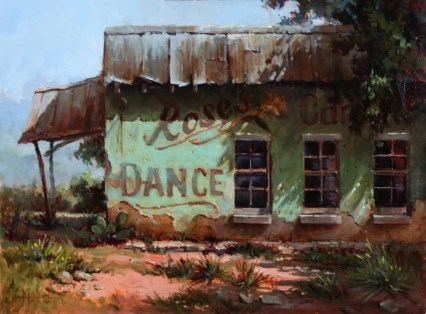 Last dance by Kathy Tate is one of the selected art works in the Oil/Acrylic division for the 2020 Bosque Arts Center Art Classic.