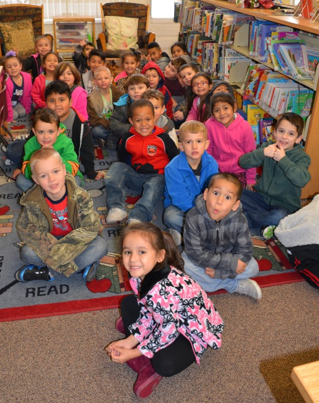 Meridian Kindergarten students visit the Meridian Public Library.