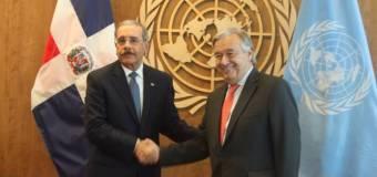 Presidente Danilo Medina se reúne con secretario general de la ONU