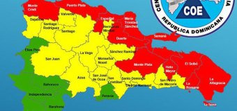 Centro Operaciones Emergencias coloca a 11 provincias dominicanas en alerta roja