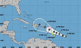 Meteorología mantiene aviso de huracán desde Puerto Engaño hasta Puerto Plata