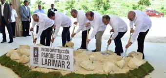 Presidente da inicio a trabajo parte eólico Larimar II