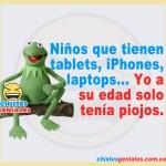 Niños que tienen tablets, iPhones, laptops – Chistes geniales