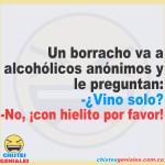 Un borracho va a alcohólicos anónimos