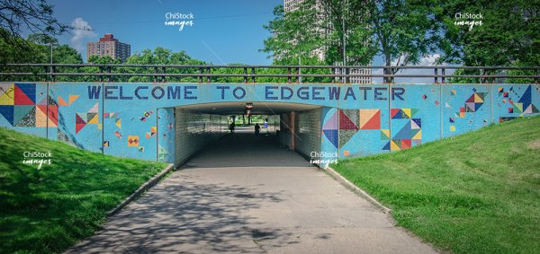 Welcome To Edgewater Sign Under Lake Shore Drive