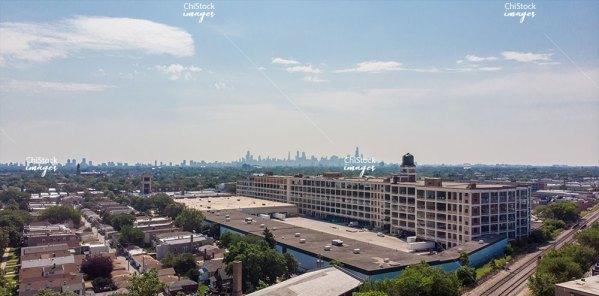 Hermosa Industrial Corridor Chicago Skyline