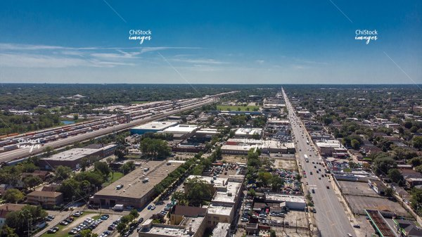 Aerial View of Gage Park CSX Intermodal 59th Street Yard and South Western Avenue