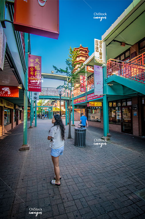 Inside the Chinatown Square Armour Square Chicago