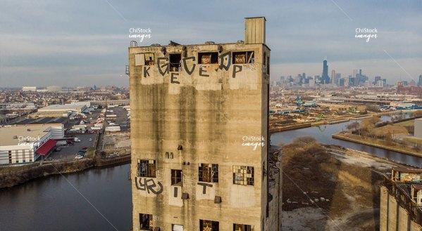 Santa Fe Grain Elevator Lower West Side Chicago Chicago River