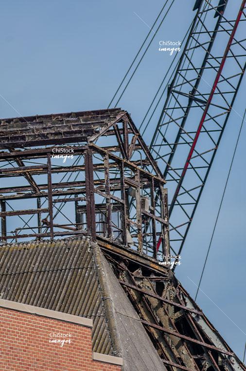 Old Morton Salt Demolition West Town Chicago