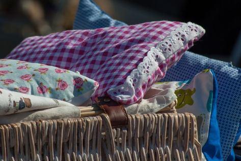 Flea Market Bedding Basket Pillows