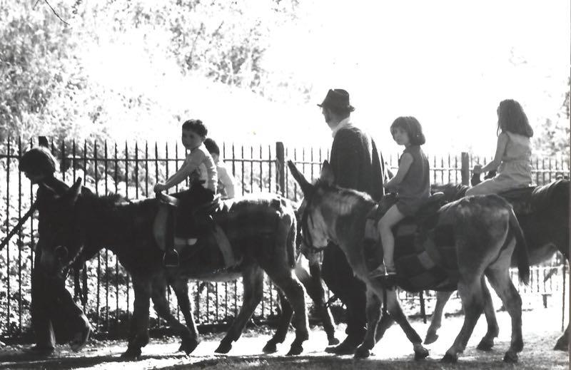 50 years of Green Days 1975 children on donkeys