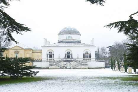 Chiswick Calendar Photographers Jon Perry Chiswick House Snow Scene