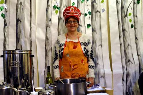 Chiswick Calendar Photographers Marianne Mahaffey Russian Orhodox Church tea urn lady with hat