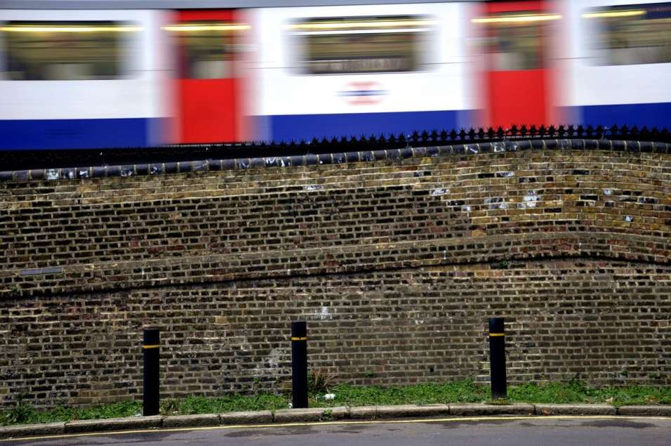 Chiswick Calendar Photographers Marianne Mahaffey Train passing