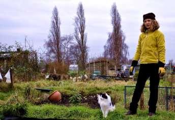 Chiswick Calendar Photographers Marianne Mahaffey Woman with cat