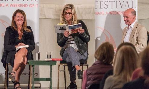 Torin Douglas MBE Paula Byrne, Imogen Stubbs and Torin Douglas at the 2017 Chiswick Book Festival