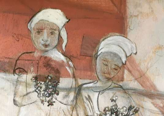 2017 Artists at Home Isobel MacLeod - Two figures