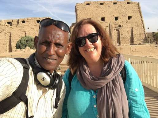 Bridget Osborne Filming in Egypt for the History of Africa with Zeinab Badawi 3