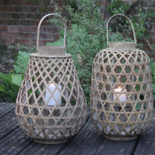 Greige - Annecy Wooden Lantern