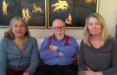 Karen Liebreich Chiswick-Timline Meeting with artist Peter Blake