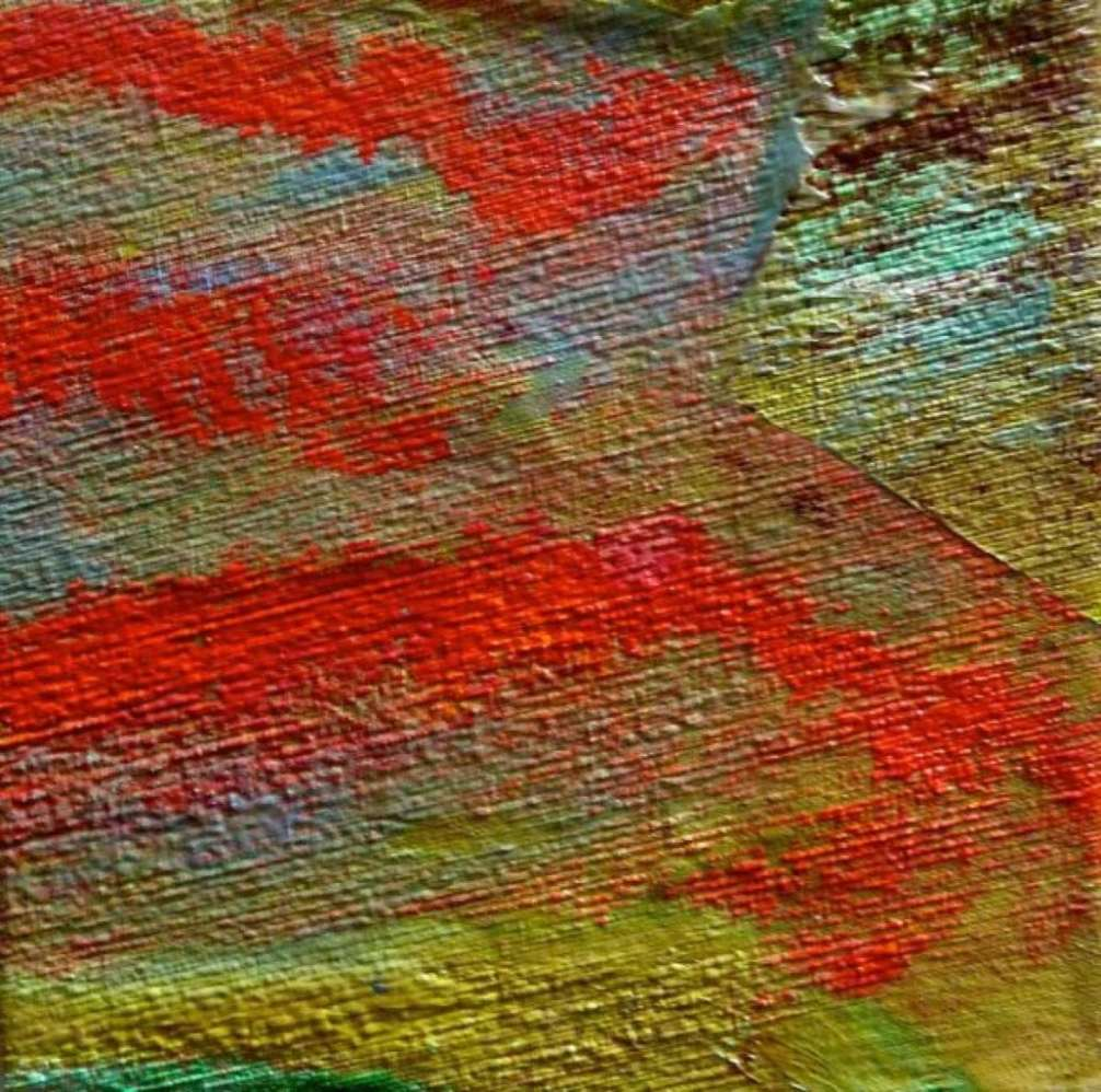 2015 Artists at Home Gala Bell 6, Oil on Silk