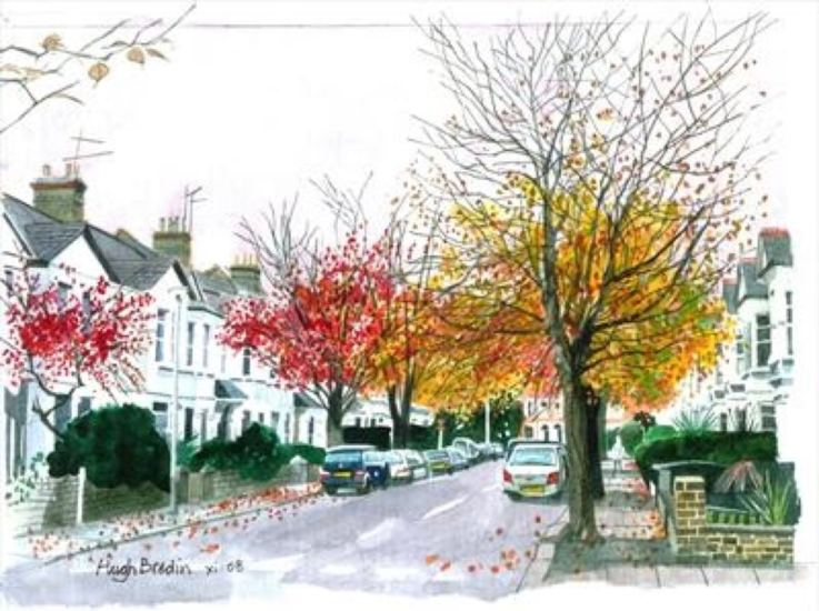 2015 Artists at Home Hugh Bredin 1, Autumn in St Mary's Grove