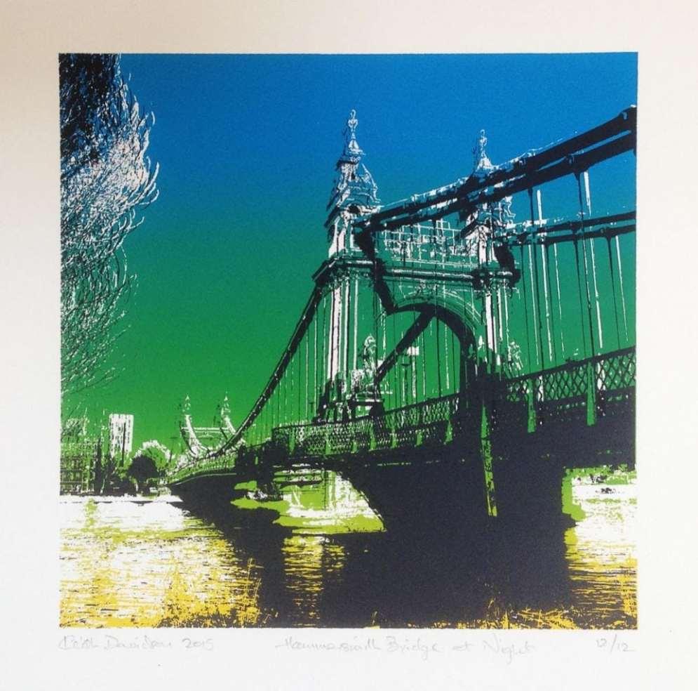 2015 Artists at Home Keith Davidson, Hammersmith Bridge 2