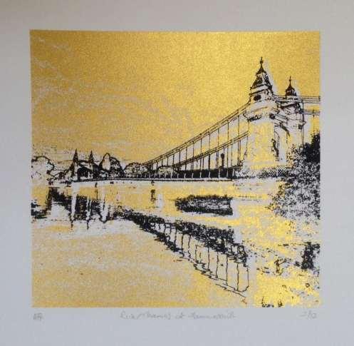 2015 Artists at Home Keith Davidson, Hammersmith Bridge 3