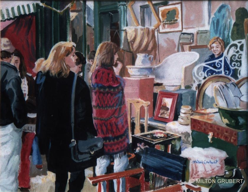 2015 Artists at Home Milton Grubert 2, Portobello Market