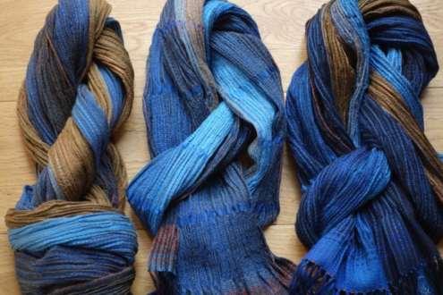 2016 Artists at Home Bobbie Kociejowski, 3 silk & wool scarves