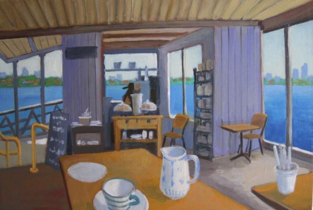 2016 Artists at Home Jill Revie, Cafe on the wharf