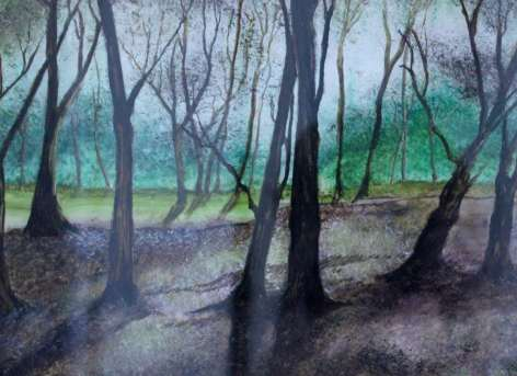2016 Artists at Home Lorraine Belloni, Woods in Winter close