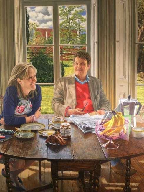 Portrait of Peter and Martine by Tony Oakshett