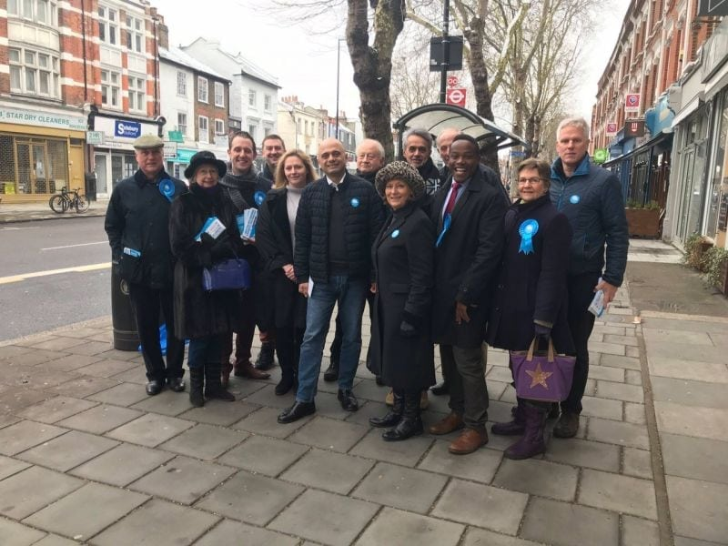 Campaigning with Sajid Javid, Home Secretary