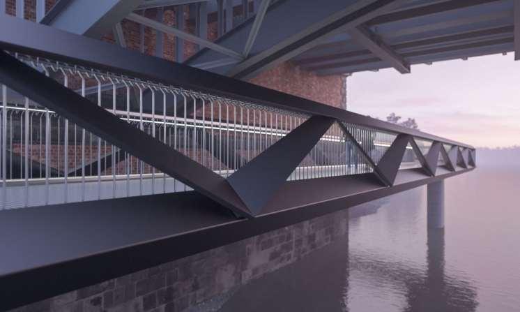 Dukes Meadow pedeestrian bridge