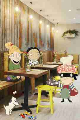 Kensington cafe with characters_web
