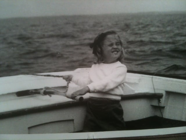 Susan Penhaligon as a child