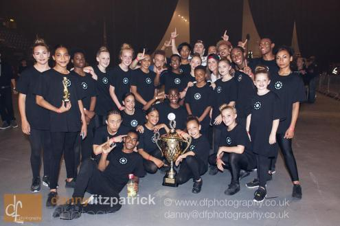 IMD with Street Dance XXL Trophy backstage Wembley__web