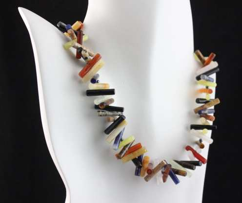 Necklace made with semi-precious stones by Felicity Gail
