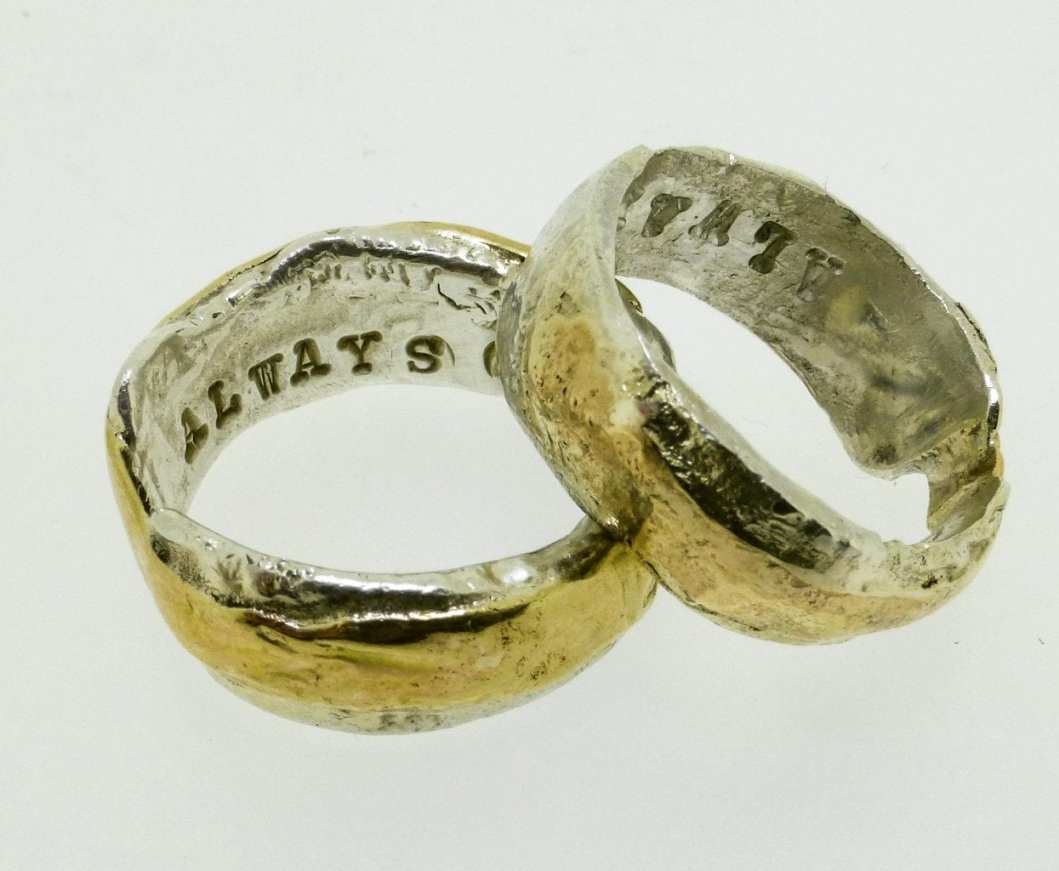 Upcycled Wedding Bands by Shelley Thomas