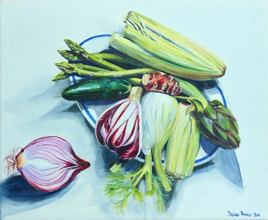 Vegetables (W X H): 85cm x 74.5cmby Debbie Pearce.