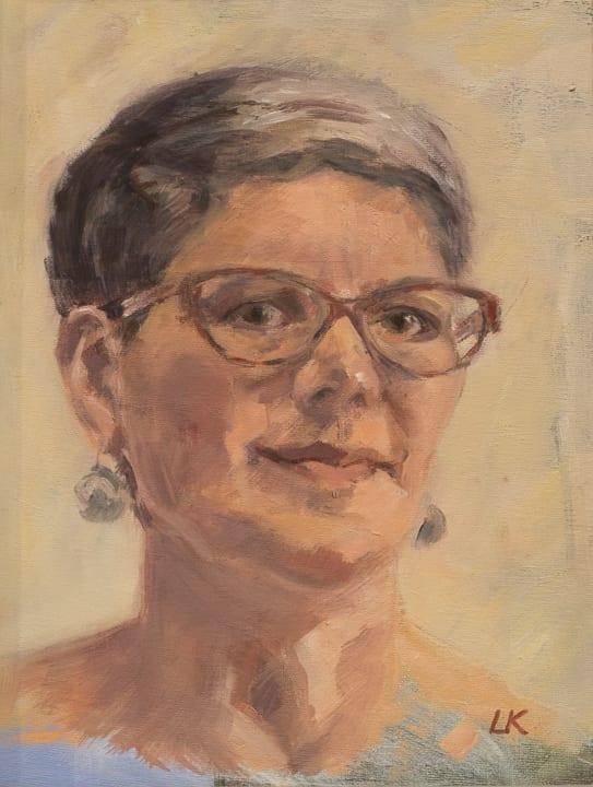 Self-portrait by Louise Kaye
