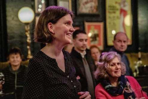 Anna Klerfalk - Intersaga literary agency & writer Susan Lee Kerr (seated)