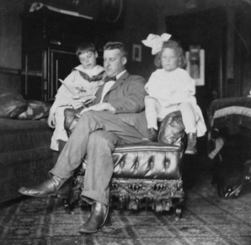 Virginia Hall with her brother John and their father (1)__web