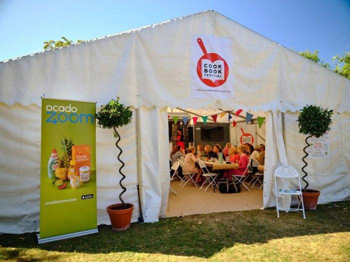 Cookbook Festival marquee exterior 2019
