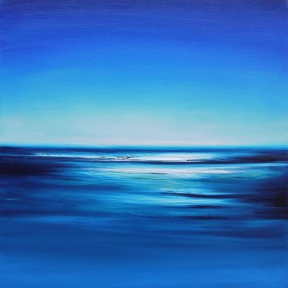 Julia Everett in the clear blue sky painting