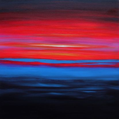 Julia Everett long hot summer night painting